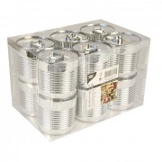Fingerfood - bekers (Tin Can), Zilver PS | 110 ml- Ø60,7mm